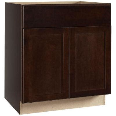 hton bay cabinets white shaker hton bay 30x34 5x24 in shaker sink base cabinet in