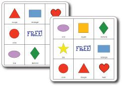printable bingo cards with shapes do2learn educational resources for special needs