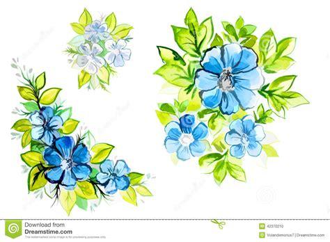 imagenes de flores azules brillantes flores azules hermosas brillantes con las hojas stock de