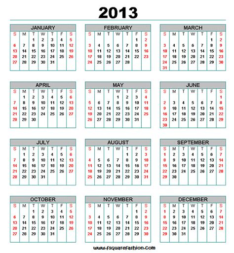 2013 Monthly Calendars Monthly Calendar 2013 Wallpapers