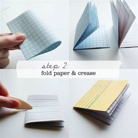How To Fold Notebook Paper Into A - make these library card notebooks paper and stitch