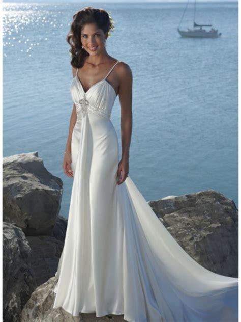 neck straps beaded destination wedding dress