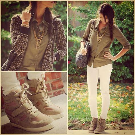 Sneaker Wedges Volcom emily o volcom shirt j brand white