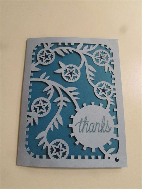 thank you card template cricut 118 best images about cards i made on