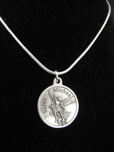 Ts Mikail Faith s catholic archangel st michael pendant necklace
