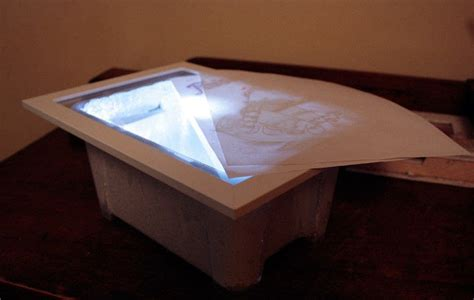 cheap light box for tracing 183 how to make a light box 183 drawing on cut out keep