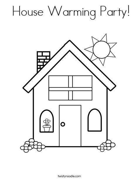 house warming music house warming party coloring page twisty noodle