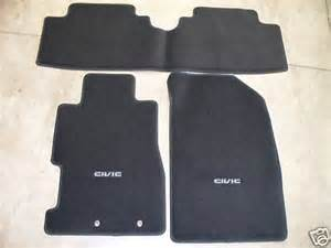 genuine oem 2004 2005 honda civic 2dr coupe black carpet