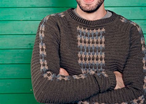 crochet pattern mens jumper free crochet patterns for men hat beanie scarf and