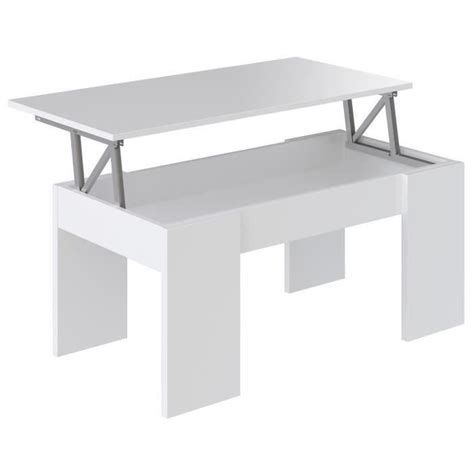 table basse 100 x 50 swing table basse transformable style contemporain blanc