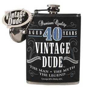 40 year old fine aged birthday gift flask