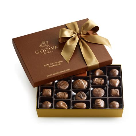 godiva chocolate 22 pc milk chocolate gift box godiva