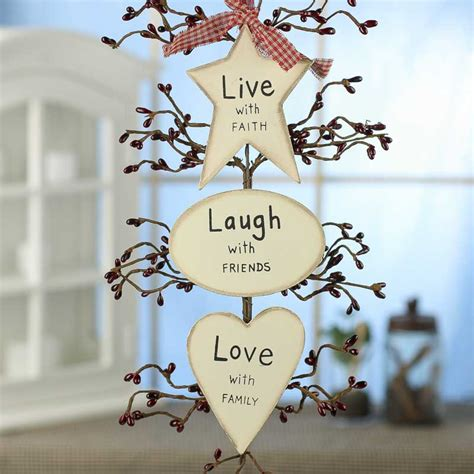 live laugh love home decor primitive quot live laugh love quot hanger wall decor home decor
