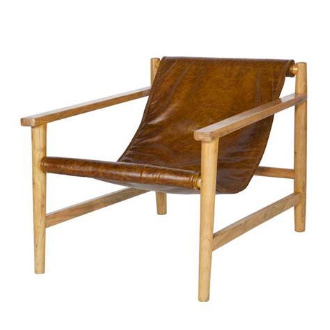 fauteuil en bois fauteuil en bois et cuir sling par drawer fr
