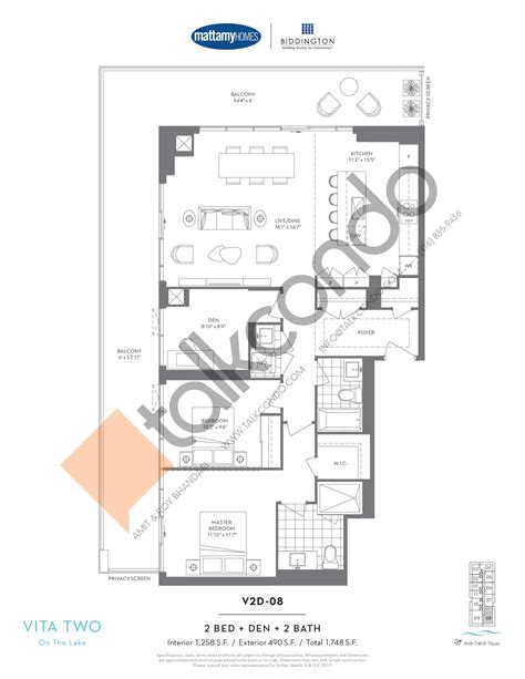 condo floor plans toronto vita 2 condos talkcondo