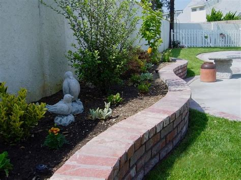 brick planters gardening and landscaping