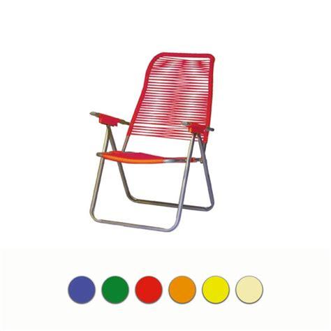 sedie sdraio plastica sedia sdraio cordonata erika in acciaio con braccioli