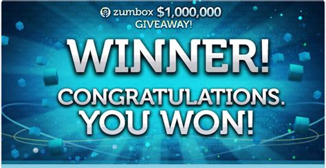 Win 1 Million Dollars Instantly - the zumbox million dollar giveaway