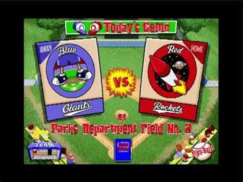 backyard baseball 1997 lets play backyard baseball pc 1997 part 1 the rise of
