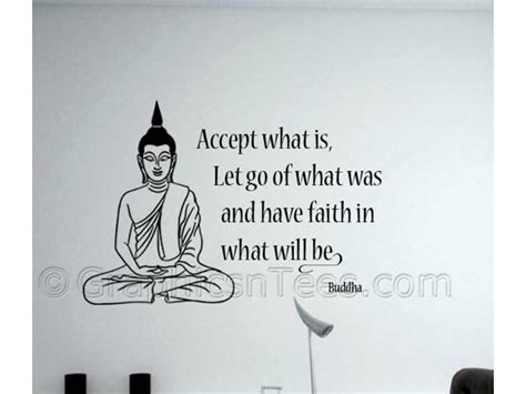 Wall Stickers Quotes Family buddha inspirational quote accept what is wall art mural