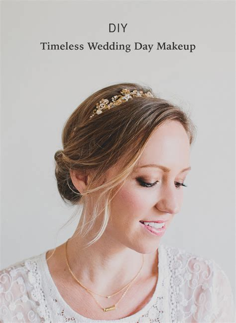 DIY Timeless Wedding Day Makeup   Green Wedding Shoes