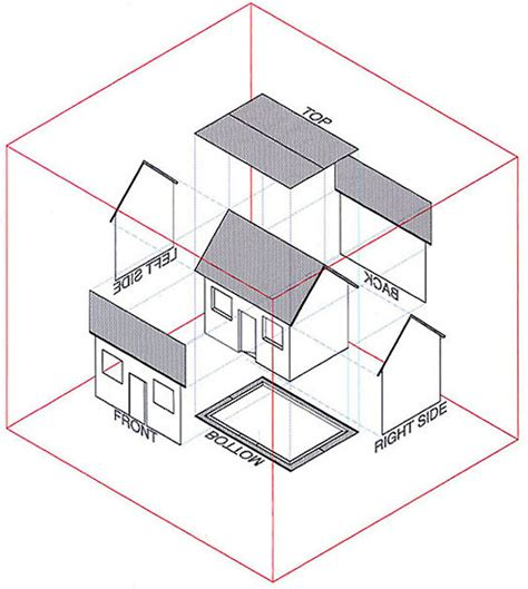 architectural drawing views intro to orthographic projection