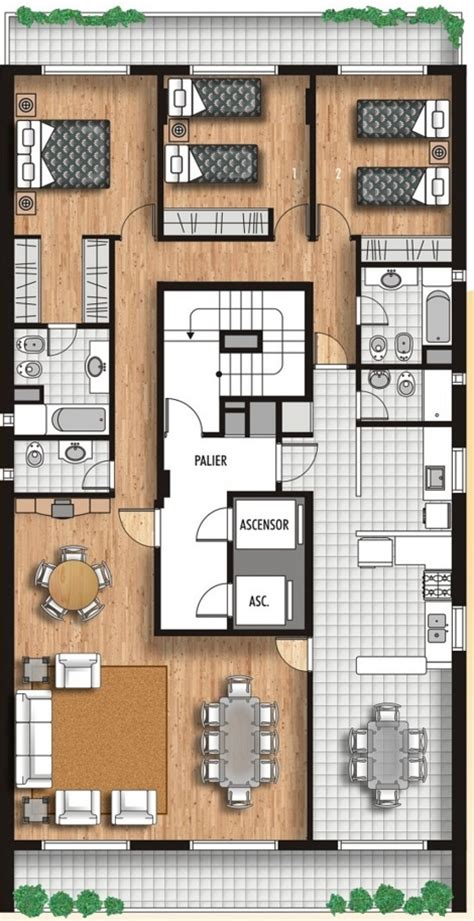 plano de habitacion planos de apartamentos planos de casas modernas
