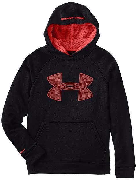 Hoodie Sweater Nf Front Logo armour boy s armour fleece big logo hoodie sweatshirt ebay