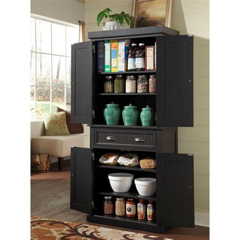 large china cabinet white kitchen cupboard home pantry home styles nantucket distressed black food pantry 5033 69