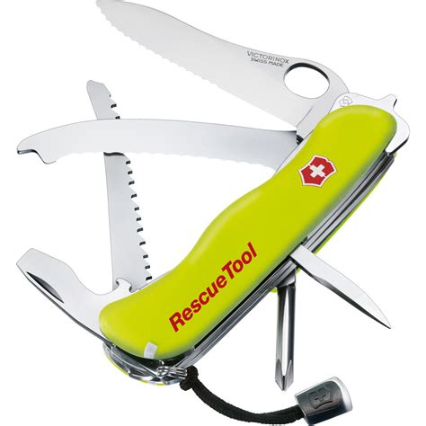 victorinox pocket knife victorinox rescuetool pocket knife fluorescent yellow 53900