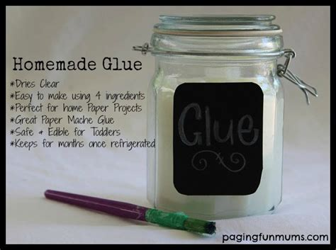 Ingredients To Make Paper Mache - glue