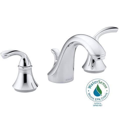 shop kohler forte polished chrome 1 handle low arc kitchen kohler forte 8 in widespread 2 handle low arc bathroom