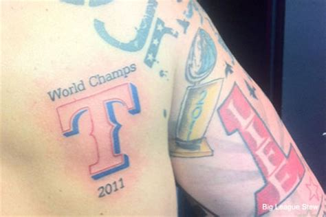 texas rangers tattoo picture of the day soon part ii total pro sports