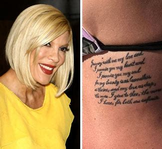tori spelling tattoo entertainment mood secrets ink