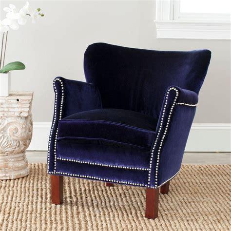 safavieh royal blue velvet polyester arm chair