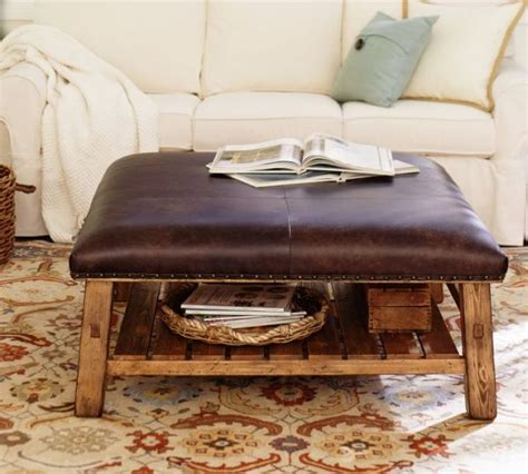 caden leather ottoman caden leather square ottoman