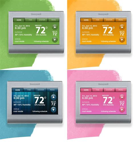 reset wifi thermostat honeywell wi fi smart thermostat adjusts to your decor