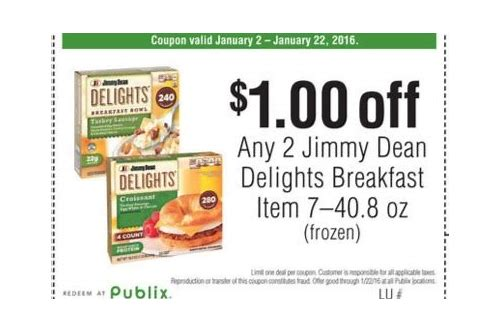 jimmy dean delights coupons 2018