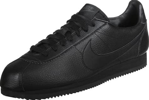 nike classic cortez leather shoes black