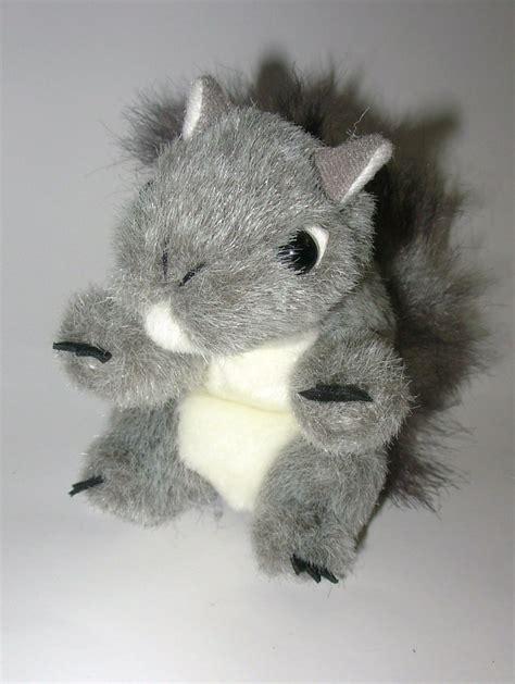 folkmanis mini gray squirrel finger puppet realistic