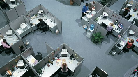 The hell of a perfect, cubicle filled office