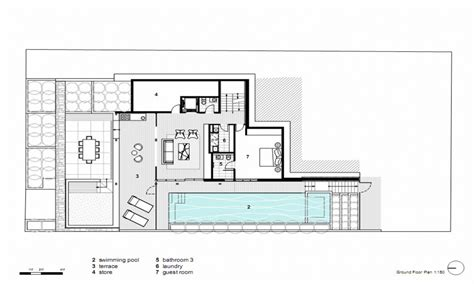 modern house concrete floor modern open floor house plans small modern house floor plans