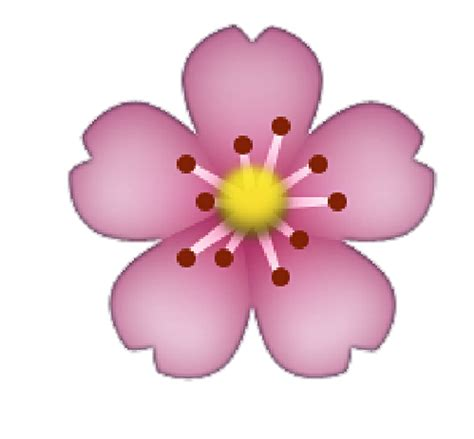 emoji bunga transparent flower emoji www pixshark com images