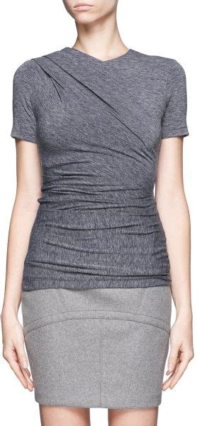 blue marc bulger 10 jersey shopping guide p 1116 t by wang mohair jersey draped top in gray grey