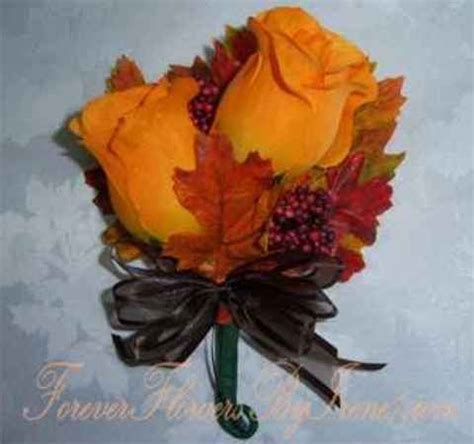 corsage colors corsage fall colors orange with burnt orange leaves