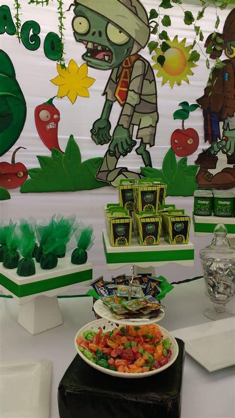 decoraciones infantiles de plantas y zombis decoraci 243 n de mesa de cumplea 241 os de santiago