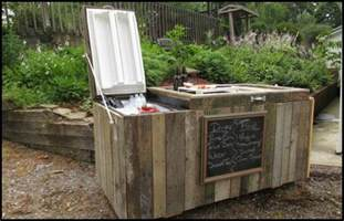 Easy Bookcase Plans How To Turn An Old Fridge Into An Awesome Rustic Cooler