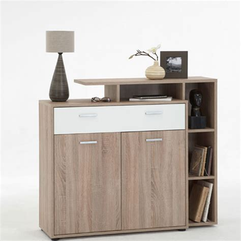 white shoe cabinet with doors bozen 6 shoe cabinet in oak with 1 white drawer and 2 doors