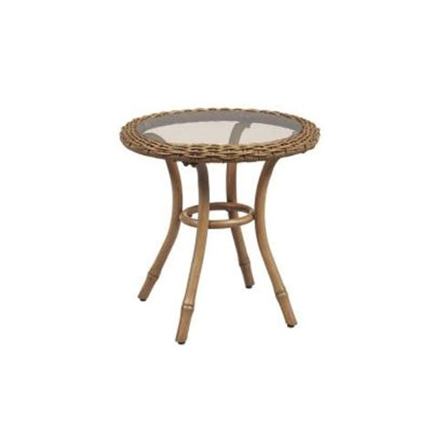 Home Depot Patio Table by Hton Bay Clairborne 20 In Patio Side Table