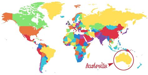 australian map of world worldmap kellisblog australia gems